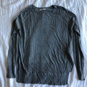 Zara dark gray lightweight sweater, size M